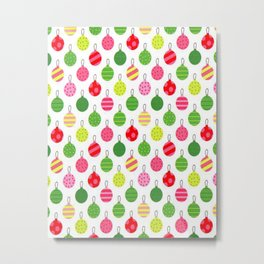 Christmas Fabric Metal Print