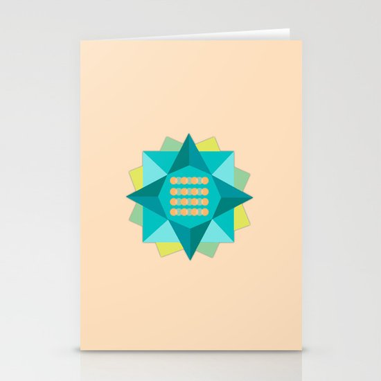 Abstract Lotus Flower - Yoga Print Stationery Cards