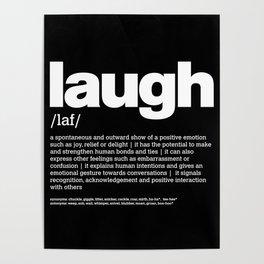 Def. LAUGH w/b Poster