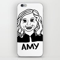 amy poehler iPhone & iPod Skins featuring Amy Poehler by Flash Goat Industries