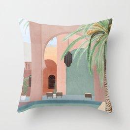 Moroccan Pool Throw Pillow