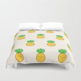 Happy Pineapple Duvet Cover