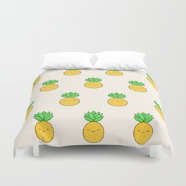 Happy Pineapple Duvet Cover