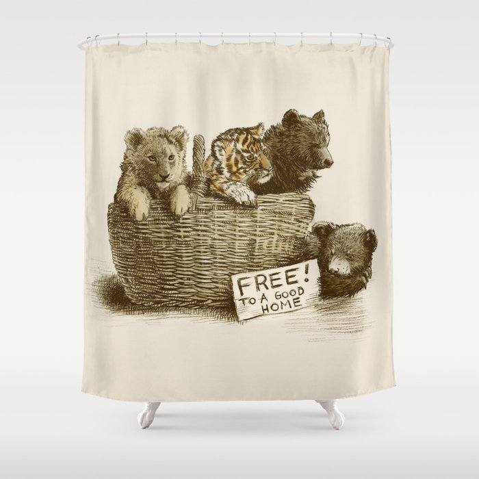 Lions And Tigers Bears Shower Curtain By Opifan64