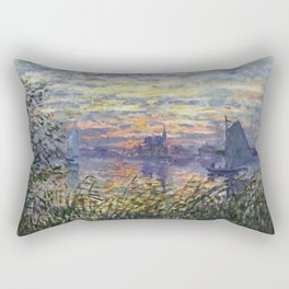 Claude Monet, French, 1840-1926 Marine View with a Sunset Rectangular Pillow