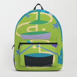 Midcentury Modern Fifties Jazz Composition Backpack