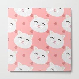 Cats pattern background Metal Print
