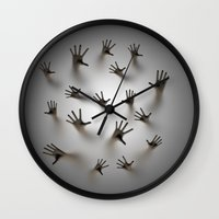 dark souls Wall Clocks featuring Lost souls by GrandeDuc