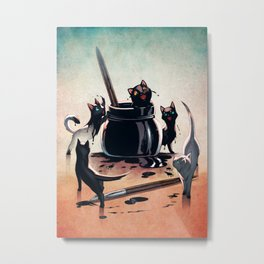 How Black Cats Are Made Metal Print