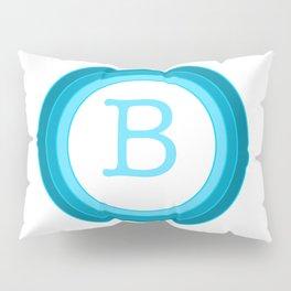 Blue letter B Pillow Sham