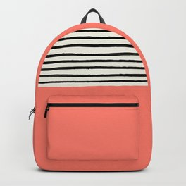 Coral x Stripes Backpack