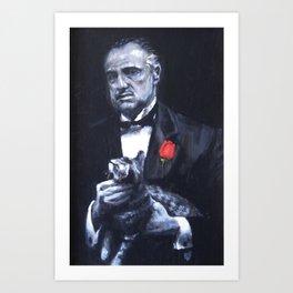 Don Vito Corleone The Godfather Art Print