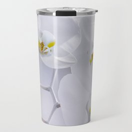 Orchid white macro 029 Travel Mug