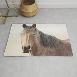 Horse Photograph, Soft Color Rug