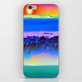 Alien Sunset iPhone Skin