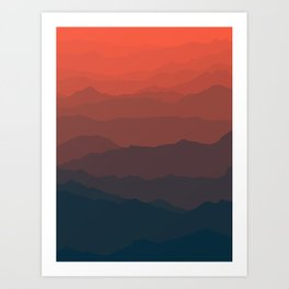 Ombré Range No. 2 Art Print