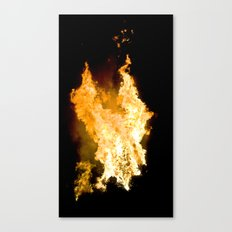 Face in the Flames Canvas Print