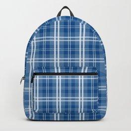 Spring 2017 Designer Color Lapis Blue Tartan Plaid Check Backpack