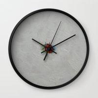 ladybug Wall Clocks featuring Ladybug by Michael Creese