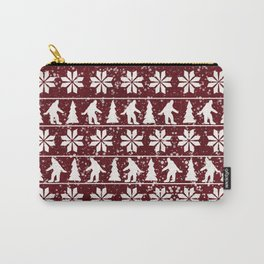 Christmas Bigfoot Carry-All Pouch