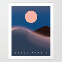 Saudi Arabia Travel poster, Art Print