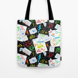 Passing Notes in Class // Old School Origami with Hand Drawn Doodles Tote Bag