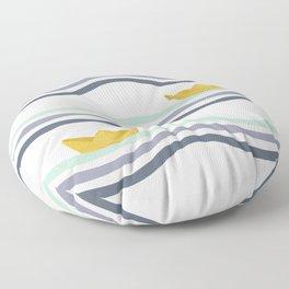 Origami sea Floor Pillow