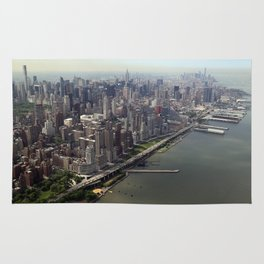 New York City near the river Rug
