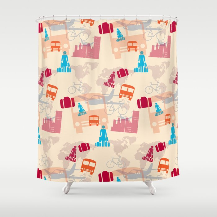 Travel Fever Shower Curtain By Mirimo Society6