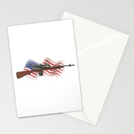 Patriotic M21 Sniper Rifle Stationery Cards