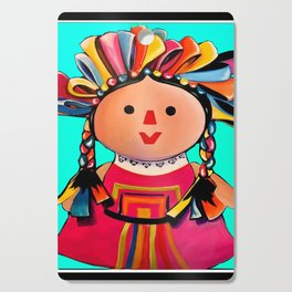 Mexican Maria Doll (turquoise) Cutting Board