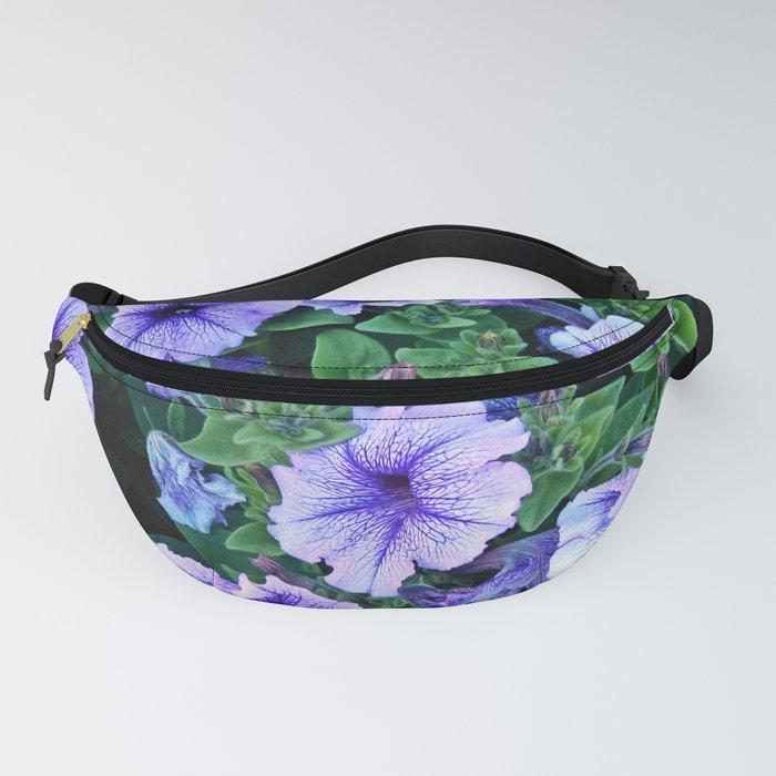 Purple Blue Petunias Fanny Pack
