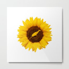 Narwhal Gift For Women Men Narwhale Whale Sunflower Lover T-Shirt Metal Print