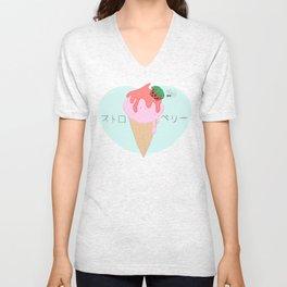 Strawberry Icecream Unisex V-Neck