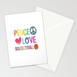 Peace-Love- Basketball Stationery Cards