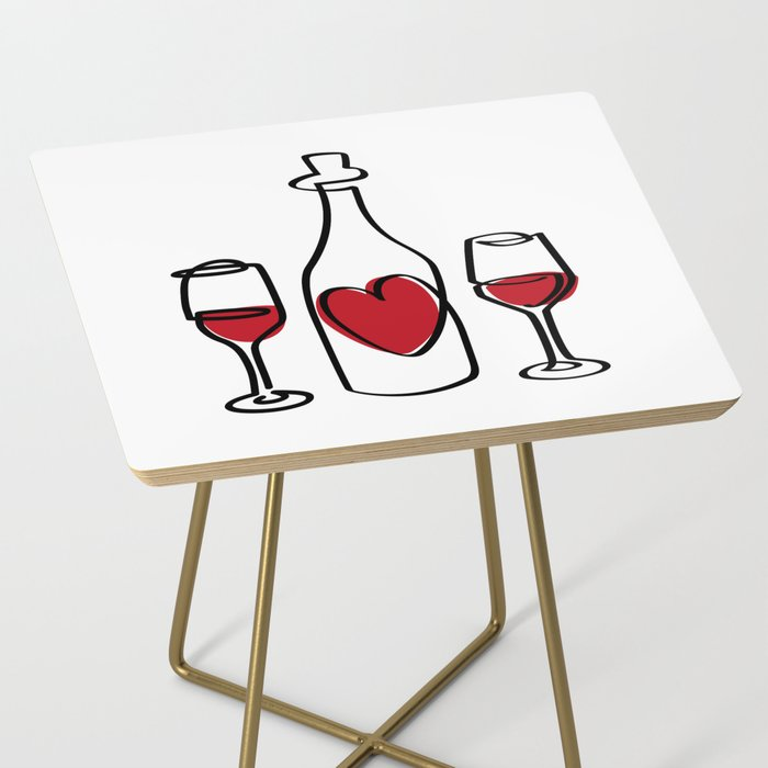 Red Wine and Love Side Table