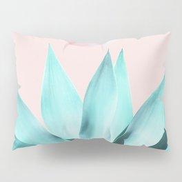 Stellar Agave and Full Moon - pastel aqua and pink Pillow Sham