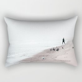 Surfing Where the Ocean Meets the Sky Rectangular Pillow