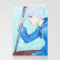 jack frost Stationery Cards featuring Jack Frost by ribkaDory