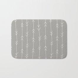 Grey, Fog: Arrows Pattern Bath Mat