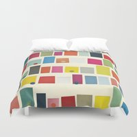 city Duvet Covers featuring City by Cassia Beck