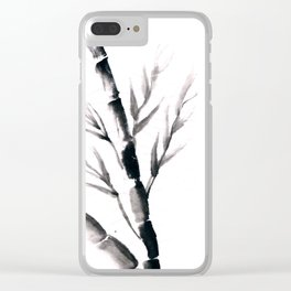 Chinese bamboo Clear iPhone Case