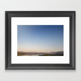 Autumn Sunrise over lake Windermere Framed Art Print