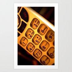 Phone keypad old school Art Print