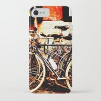 bikes iPhone & iPod Cases featuring bikes by Eva Lesko