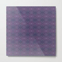 Heather Stem - Purple Metal Print