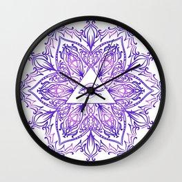 Indian mandala sun and eyes Wall Clock