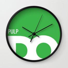 Cropped D.O. Pulp Logo Wall Clock