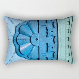 blue mint green Rectangular Pillow