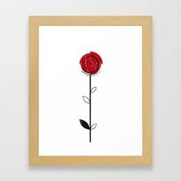 Flower of June - Rose Framed Art Print